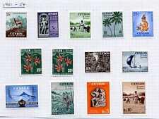 Ceylon 1951 QEII Definitive set (13v. inc both 35c types) mint CV £86