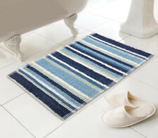 Country Club Bathmat 50 x 80 Stripe Blue Bathroom Shower Mat Water Microfibre