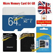 64GB Ultra Micro SD SDHC Ultra TF Memory SD Card SDHC UHS-1 w/ADAPTER Class 10