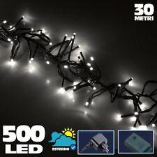 Catena Luminosa 500 Luci LED Lucciole Bianco Freddo Controller 8Funzioni Esterno