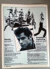 JOHN TRAVOLTA Sandy/Greased lyrics magazine PHOTO/Poster/clipping 11x8 inches