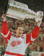 STEVE YZERMAN 8X10 PHOTO HOCKEY DETROIT RED WINGS PICTURE NHL WITH CUP