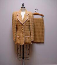 Vintage Paris Tailor & Co Custom Hong Kong Regent Hotel 2 Pc Skirt Suit ~Size S~