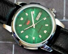 New listing VINTAGE UNUSED SEIKO 5 CAL.7009 AUTOMATIC DAY/DATE JAPAN MEN'S WATCH #5-02626