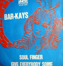 """CLASSIC NORTHERN SOUL  BAR-KAYS 7"""" SOUL FINGER RARE  ITALY 1968 DISCO CAMPIONE"""