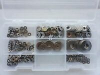 Assorted Stainless Steel Fastener Kit: Flat Washers