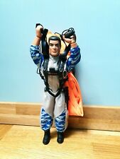 """Classic 12"""" Action Man Sky Diver With Parachute Kit Belt And Machete Hasbro 90s"""