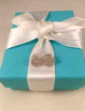 Tiffany & Co Sterling Silver 1837 Circle Stud Earrings
