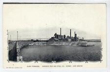 FURNACES, DOMINION IRON & STEEL Co, SYDNEY: Cape Breton Canada postcard (C30813)