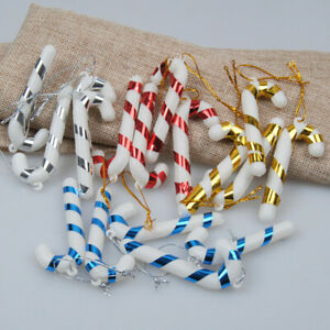 12pcs CHRISTMAS CANDY CANE CRUTCH ORNAMENT XMAS TREE HANGING DECOR NEW YEAR HOME