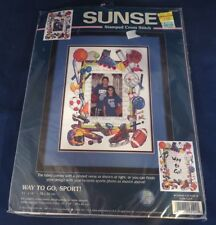 "Sunset ""Way to Go Sport"" Stamped Cross Stitch Kit - Unopened"