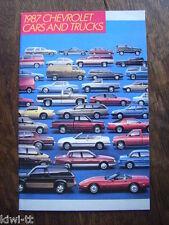 Chevrolet Cars and Trucks 1987 Prospekt / Brochure, USA, 12.1986