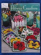 Plastic Canvas Pattern Flower Coasters 13 Floral Designs Rose Pansy Iris Tulip