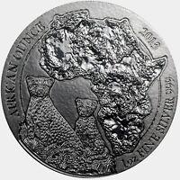 2013 1 oz Silver Rwanda African Cheetah .999 Fine Silver RARE!!!