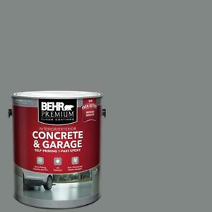Gray Concrete Garage Floor Paint Epoxy Grey Coating Driveway Basement Can