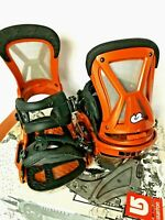 $440 Burton CO2 EST Snowboard Bindings NIB Sz S Mens Rust Orange Channel Board