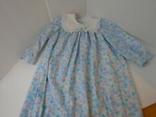 Vintage  Girls Floral pink blue Party Dress Child Clothes Size 6 approx
