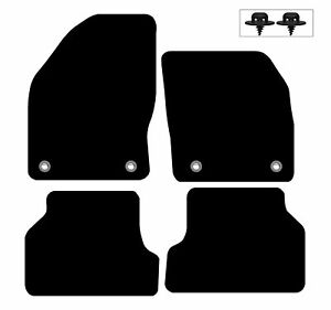 Ford Focus MK2 2005 - 2011 Car Mats Fully Tailored Floor Carpets Black 4 Clips