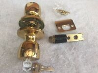 2 Mobile Hm Modular Entry Exterior Outside Front or Back Door Locks Brass Plated