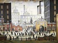 Lowry Coming from the Mill Stretched Canvas Multi Size Poster Print Painting LS
