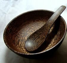 PLAM WOOD BOWL&SPOON SET SOUP,FOOD RICE WOODEN BOWL THAI HANDCRAFT