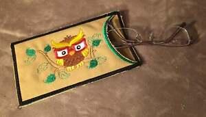Embroidered Eyeglass Case/Holder