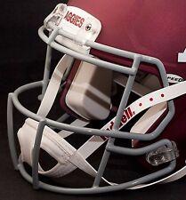 JOHNNY MANZIEL TEXAS A&M AGGIES Speed S2BD-SW-SP Football Helmet FACEMASK - GRAY