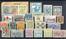GREECE LOT - 24 STAMPS INCL -REVENUES --BACK OF BOOK --F/VF