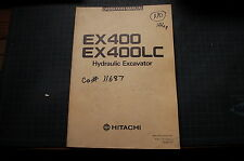 HITACHI EX400 LC TRACKHOE EXCAVATOR Operator Owner Operation Maintenance Manual