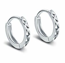 New Charm 925 Sterling Silver Hoop Stud Earrings Womens Jewellery Valentine Gift