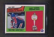 O PEE CHEE 83/84  WAYNE GRETZKY  VINTAGE  HOCKEY CARD # 203  HART TROPHY