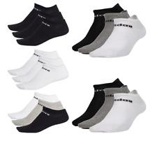 Adidas Calcetines NC Corte De Hombre Mujer Unisex Algodón Calcetines No Show Negro Blanco 3 Par