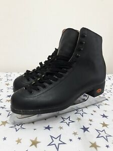 Riedell Womens Ice figure skating Boots Black Boot Only Model 112 B- Size 7.5 UK