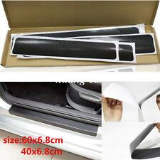 Car Interior Accessories Door Sill Scuff Cover Carbon Fiber Vinyl Wrap Sticker Fits 2012 Malibu