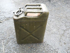Vtg US Jerry Gas Fuel Can 5 Gal Metal Military ICC-5 Wheeling 205 1/4 43 QMC