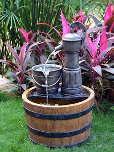 Aqua Moda Pump on Wooden Barrel Water Feature