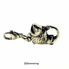 Authentic Trollbeads Silver Big Fish Lock 10102 (Incl. Orig. Packaging)