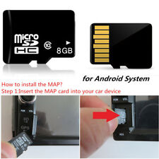 8GB Map SD Card For Android System Car GPS Fit Canada Mexico North America Black