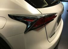 Chrome Taillight Cover FOR 2015 Lexus NX200 NX300 Rear Tail Light Lamp Trim New