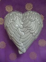Angel Wings Heart Trinket Box Fair Trade Grey Ceramic Spiritual New Age Gift