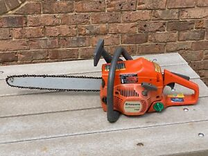 "Nice Husqvarna 142 E-Series w/ 16"" Bar & Chain 40cc Chainsaw - Runs Good!"