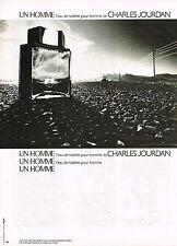 PUBLICITE ADVERTISING 064  1980  CHARLES JOURDAN  parfum  eau de toilette UN HOM