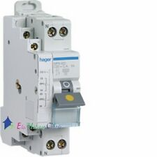 Disjoncteur bipolaire + fil pilote à vis 10A Hager MFN910
