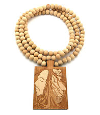 NEW BOB MARLEY NATURAL WOODEN NECKLACE