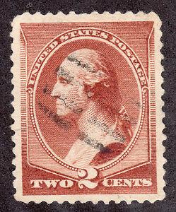 US # 210 (1881) 2c - Used Grade: XF 'George Washington' - w/Lite Cancel
