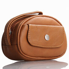 Brown Italian Leather Wristlet / Wallet