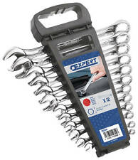 """Britool """"EXPERT"""" 12 Pce Combination Spanner Wrench Set  7 - 24mm in a Rack"""