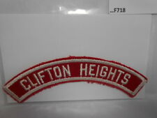 CLIFTON HEIGHTS RED & WHITE CITY STRIP  F718