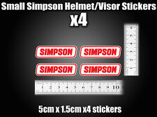 Small Simpson Stickers Decal x4 Helmet Visor street bandit