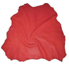 Big Red Full Grain Sheepskin Leather Hide Soft 3 oz Sheep Skin